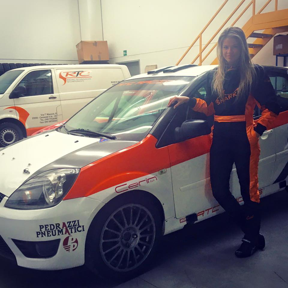 Christine G. Zonca e la Ford Fiesta ST 2000 N3 di RTC Racing