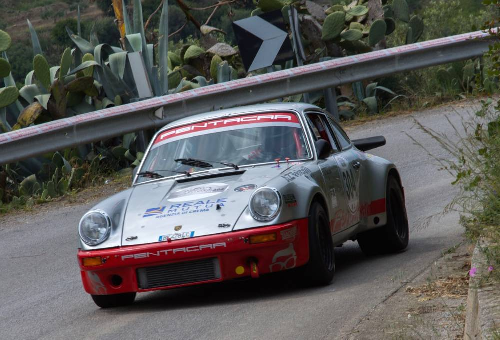 Da Zanche Porsche action 100th Targa Florio