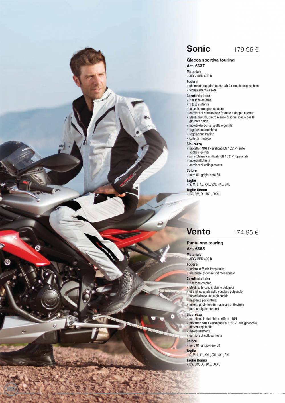 HELD - SONIC+VENTO (Giacca+Pant.Sport, Tour) (Cat-1)
