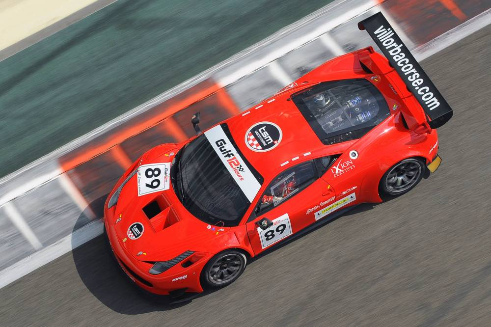 Mezard in action on the Villorba Corse Ferrari 458