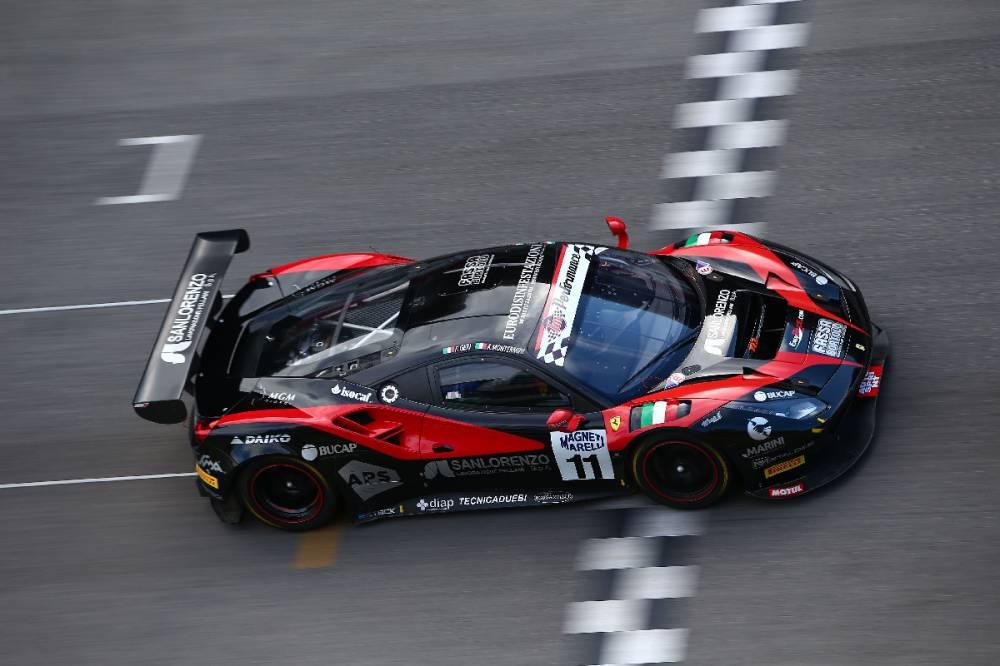 Montermini - Geri su Ferrari 488 in azione al Mugello