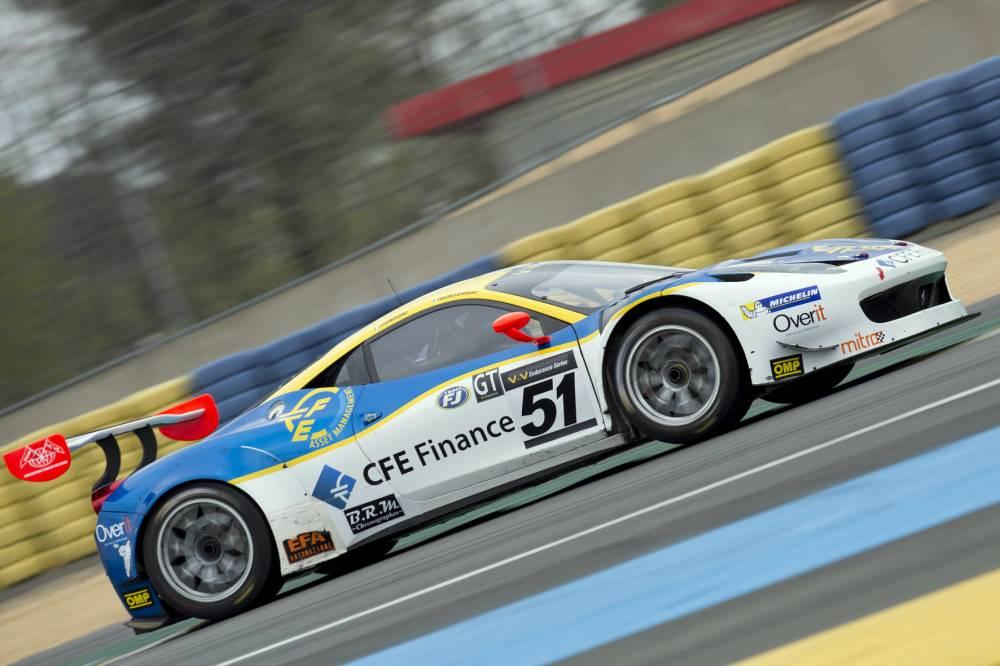 Montermini sulla Ferrari 458 in azione a Le Mans FotoPieri