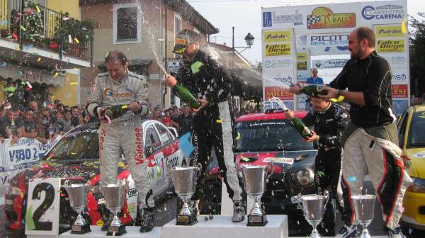 podio 21 rally Bagnolo 2014