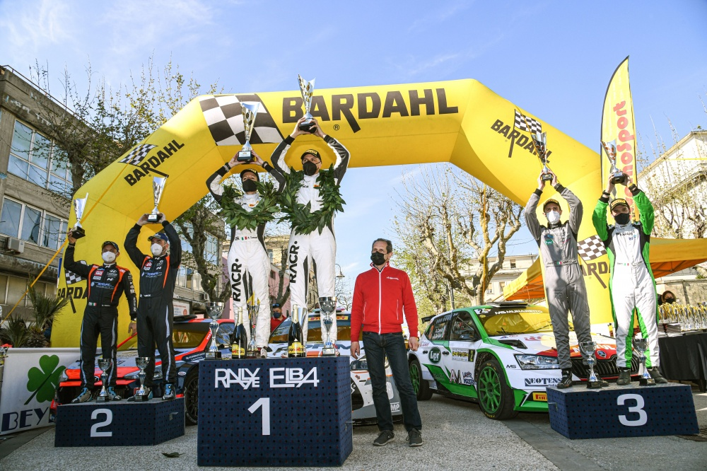 podio 54esimo rally elba