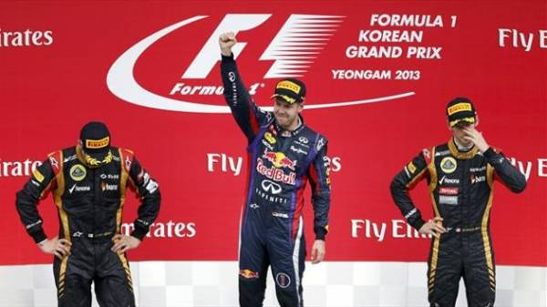 podio gp f1 korea - .