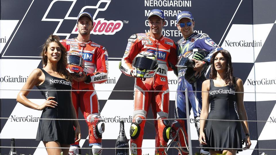 podio motogp austria