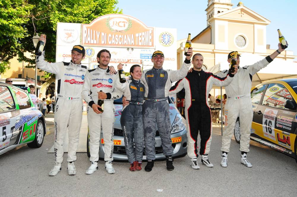 podio rally casciana 2105