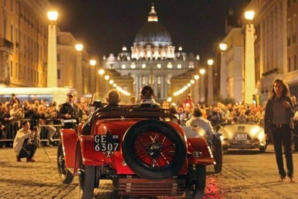 arrivo a roma citta del vaticano